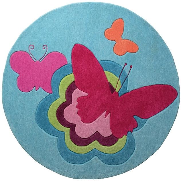 kindervloerkleed esprit rond butterflies handgetuft koop je bij otto. Black Bedroom Furniture Sets. Home Design Ideas