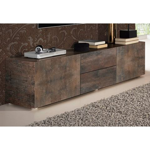 Lowboard breedte 139 cm staaldecor-bruin TV-kast 272