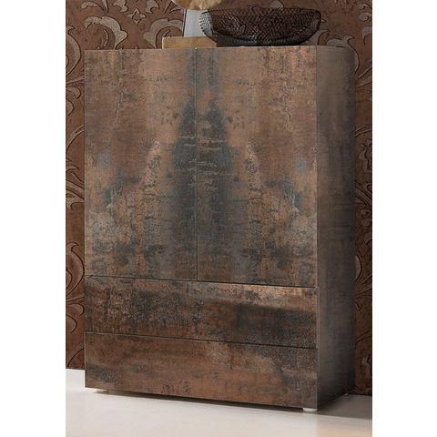 Kasten  vitrinekasten Kast met 2 deuren en 2 laden 609335