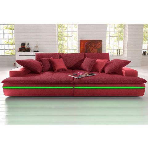 woonkamer driepersoons bankstel rood PRIMABELLE microgaren structuurstof Megabank van FSC® gecertificeerd houtmateriaal