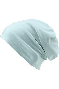 mstrds beanie elastische jersey-muts, one size blauw