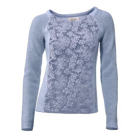 NU 20% KORTING: Pullover met kant