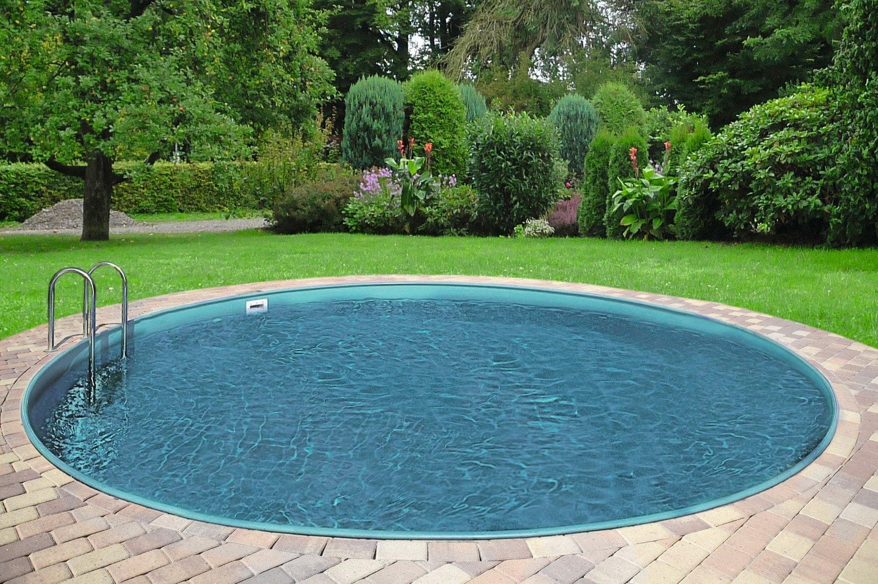 9a6bf1562f72f2 6-delig, INTEX Whirlpool-set PureSpa Bubble Therapy Round, CLEAR POOL Ovaal  zwembad, SUMMER FUN Solardouche »Solardouche SilverDeLuxe«, 226 cm,  zilverkleur, ...