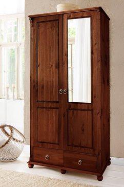 Massief grenen garderobekast 2-5 deurs