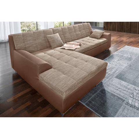 woonkamer extra groot hoekbankstel bruin XXL hoekbank naar keuze met slaapfunctie 3