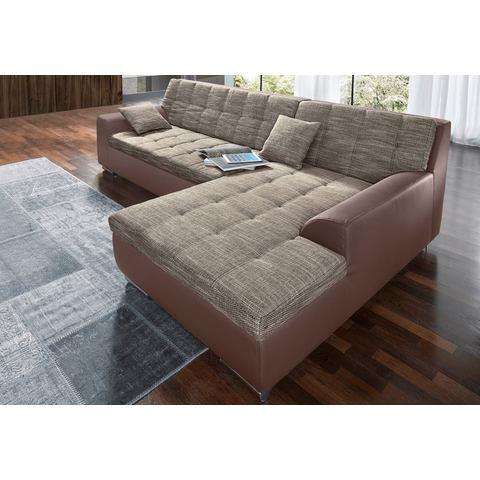 woonkamer extra groot hoekbankstel bruin XXL hoekbank naar keuze met slaapfunctie 1