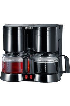 Koffiezetapparaat KA 5802, met 2 glazen kan, zwart, inlc. Theefilter