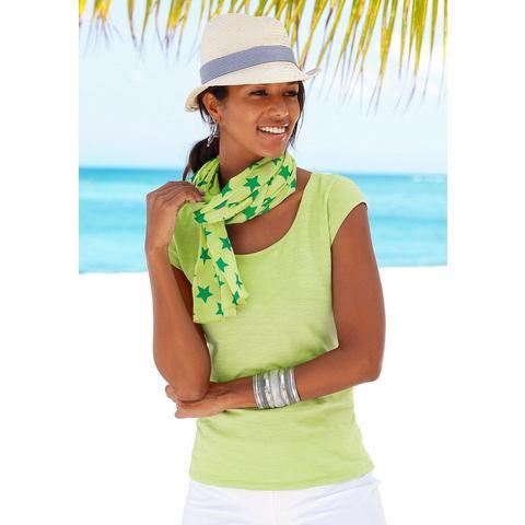 BEACH TIME Shirt met sjaal als set