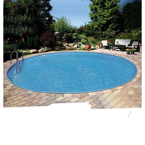 CLEAR POOL voordeelset: Rond zwembad Premium Ibiza, 6-delig in verschillende afmetingen, met Easy Ch