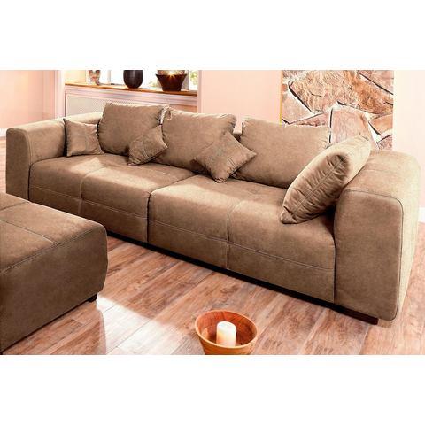 woonkamer extra groot bankstel bruin HOME AFFAIRE Megabank uit de Premium collection 94
