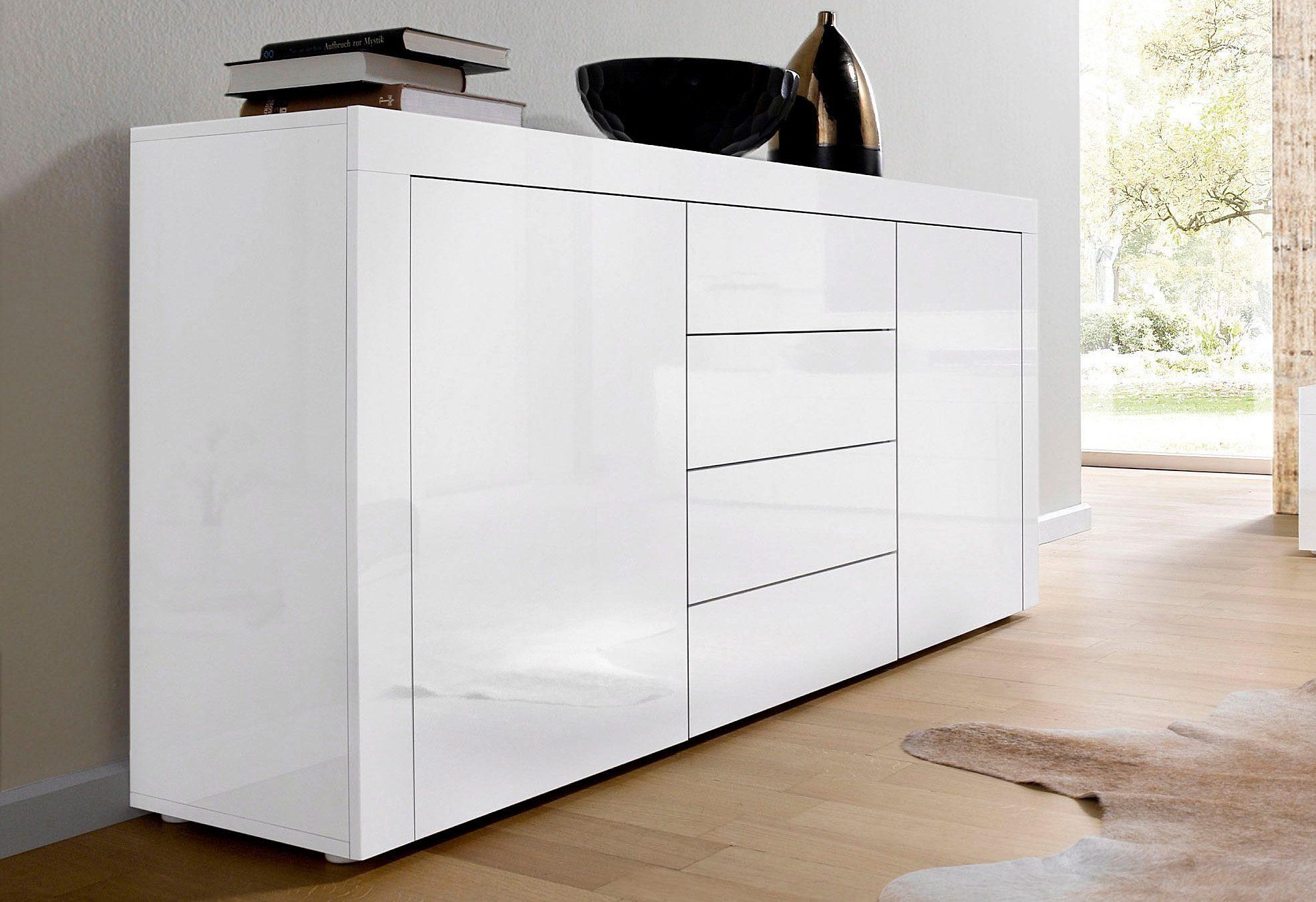 Hoogglans dressoir wit tweedehands