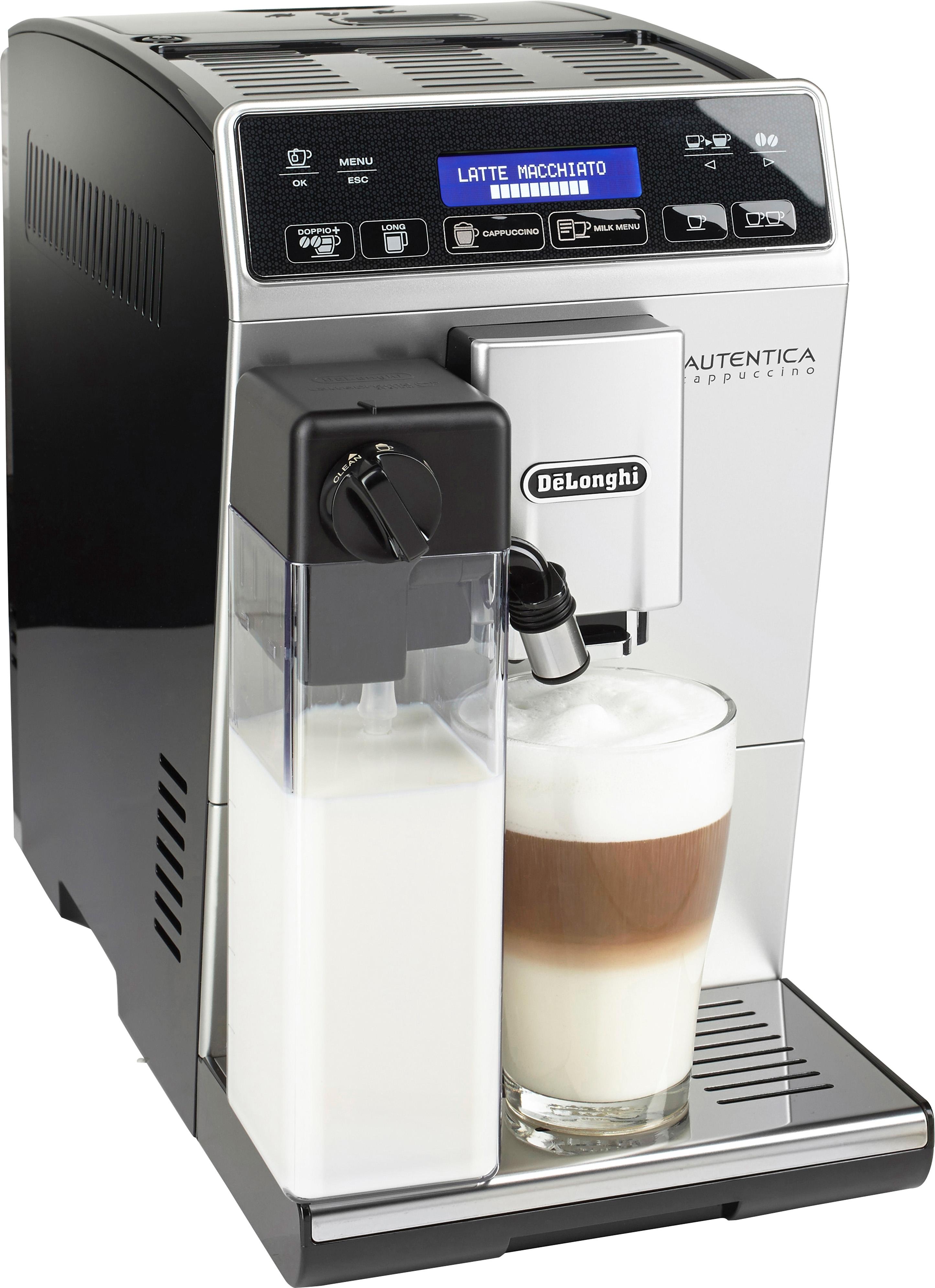 De'longhi Delonghi volautomatisch koffiezetapparaat Autentica 29.660.SB, zilverkleur/zwart voordelig en veilig online kopen