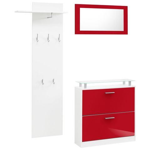 Complete garderobes Halmeubel Lathi in 3-delige set 326181