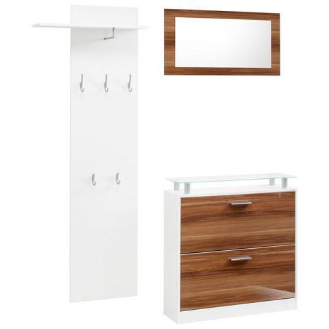 Complete garderobes Halmeubel Lathi in 3-delige set 832722