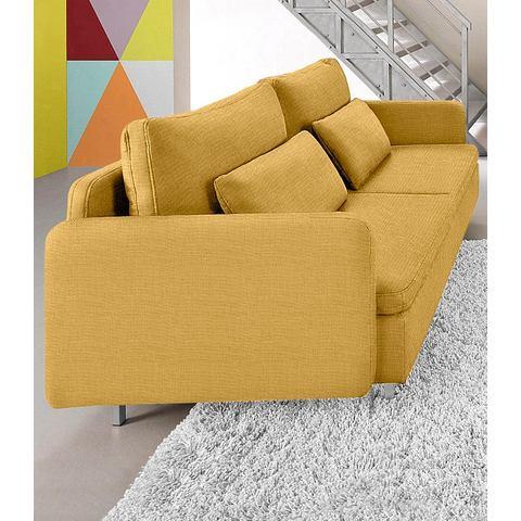 woonkamer driepersoons bankstel geel Structuurstof fijn SIT en MORE met armleuningen