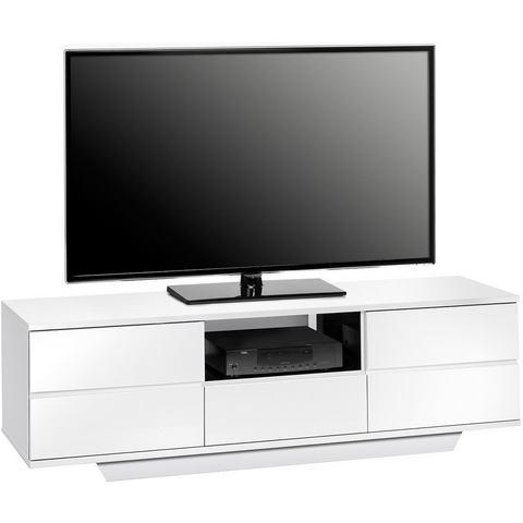 Tv-meubel Amieka Hoogglans Wit-Zwart 150 cm, Königstein