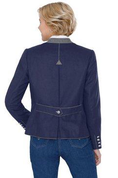 classic korte blazer blauw
