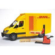 bruder speelgoedauto mercedes benz sprinter dhl made in germany geel