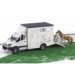 bruder speelgoed vrachtwagen mercedes benz sprinter made in germany wit