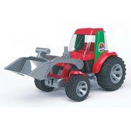 bruder roadmax-tractor met voorlader rood