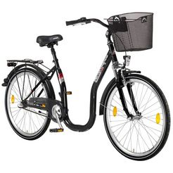 performance citybike met lage instap »66,04 cm (26 inch), 71,12 cm (28 inch)« zwart
