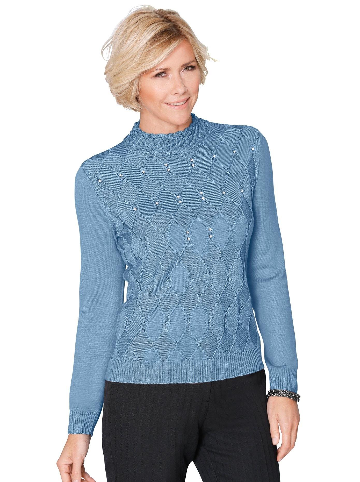 Classic trui met staande kraag Trui nu online bestellen