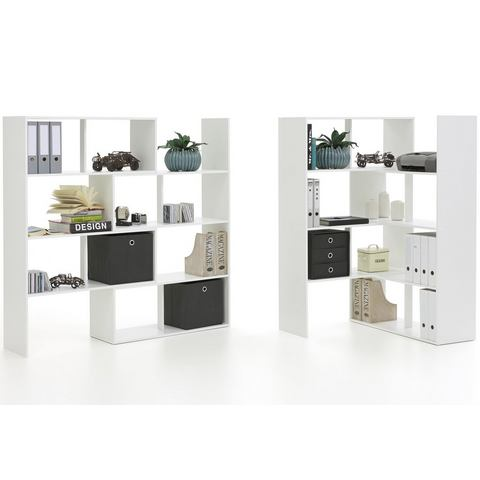 Kasten  vitrinekasten FMD Roomdivider Stretch 1 van 146 cm hoog 841993