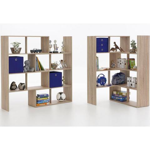 Kasten  vitrinekasten FMD Roomdivider Stretch 1 van 146 cm hoog 876879