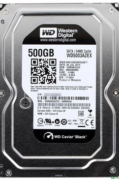 "Schijf HI 3.5"" 500GB Black SATA600"