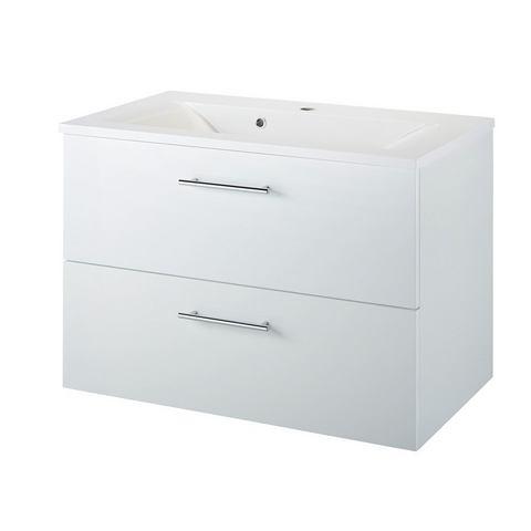 KESPER Wastafel »Malmö« witte badkamer onderkast 273