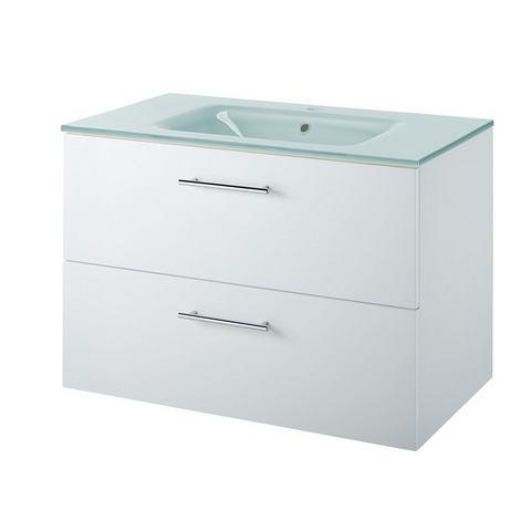 KESPER Wastafel »Malmö« witte badkamer onderkast 266