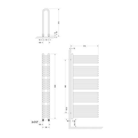 Sanitair Designradiator Porto 397499