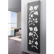 sz metall designradiator »leaves « wit