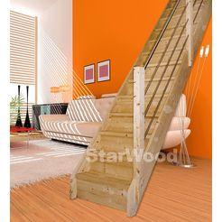 starwood ruimtebesparende trap beige
