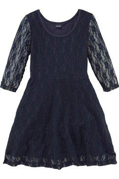 arizona jurk met mouwen van elastische kant blauw