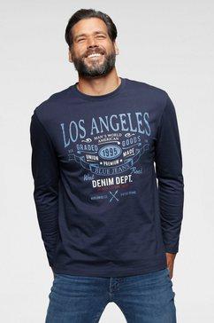 man's world shirt met lange mouwen met groot opschrift blauw