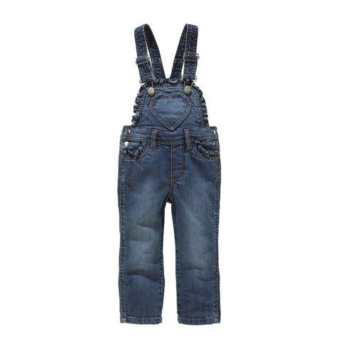 KIDOKI Jeans-tuinbroek met ruches