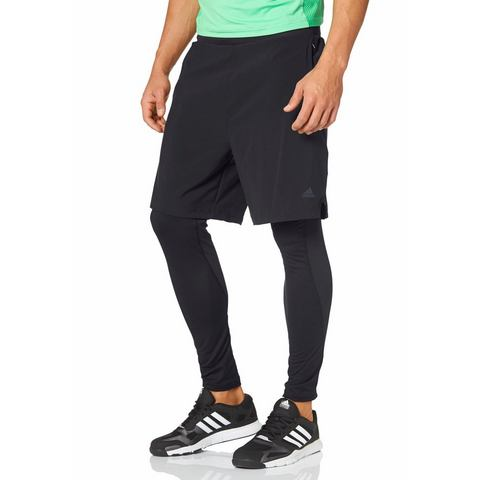 ADIDAS PERFORMANCE 2-in-1-broek met logoprint