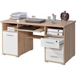 germania bureau 0484 met uittrekplank voor het toetsenbord en afsluitbare lade beige