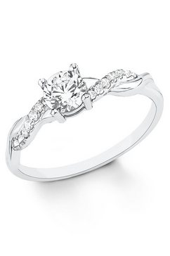 s.oliver zilveren ring »9079322« zilver