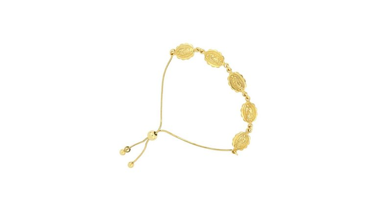 Firetti armband »Marien-Bildnis, flachgedrückte ovale Glieder, Glanz, vergoldet«