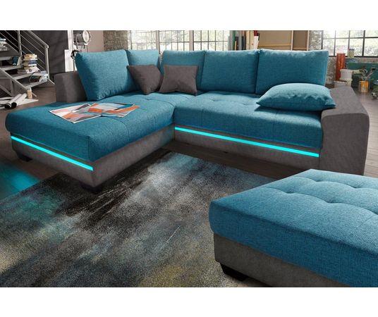 hoekbank met verlichting snel online gekocht otto. Black Bedroom Furniture Sets. Home Design Ideas