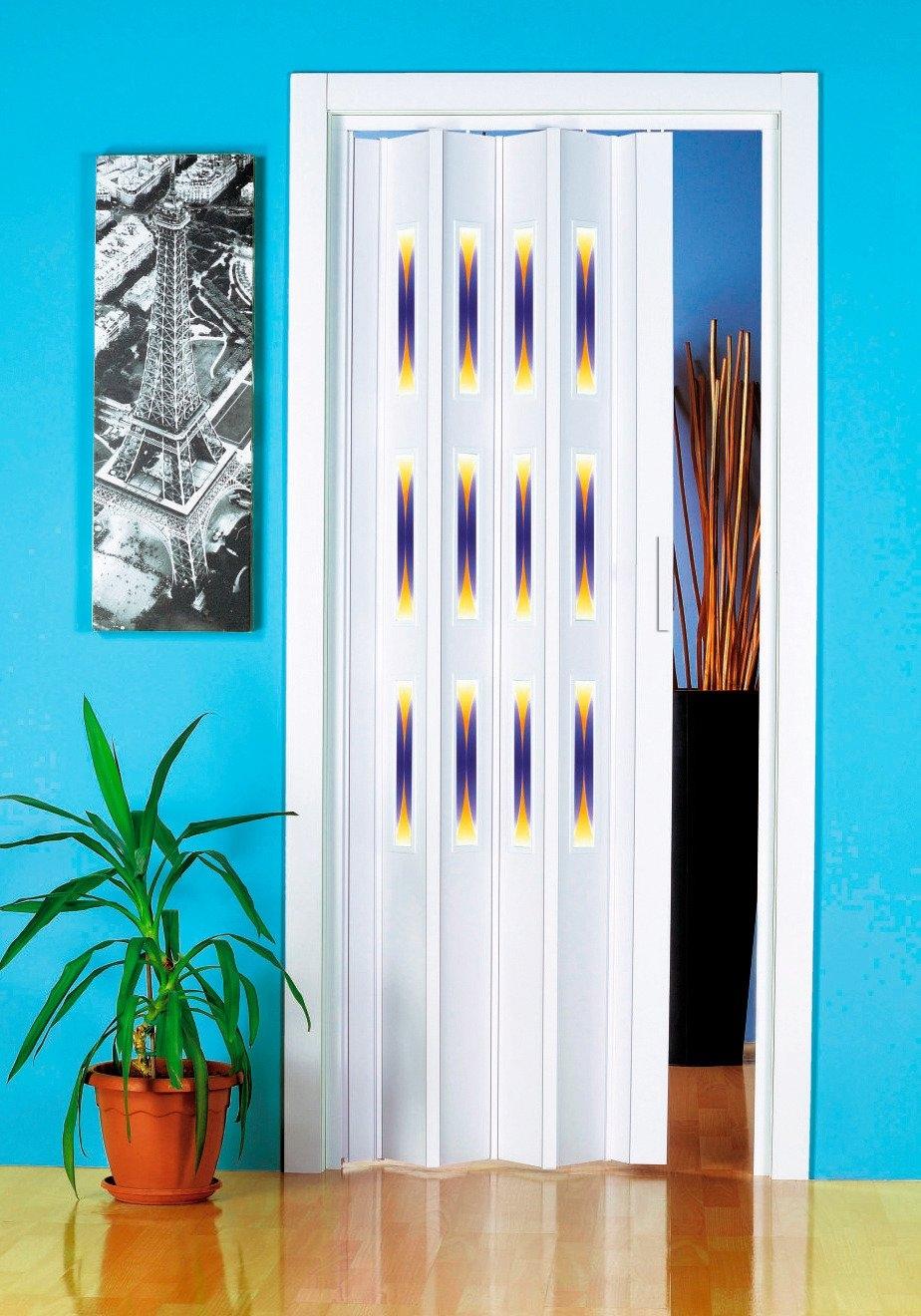 Kunststof vouwdeur »Decor 1 halfrond«, Bxh: 88,5x202 cm, met decoratief motief in raam bij OTTO online kopen