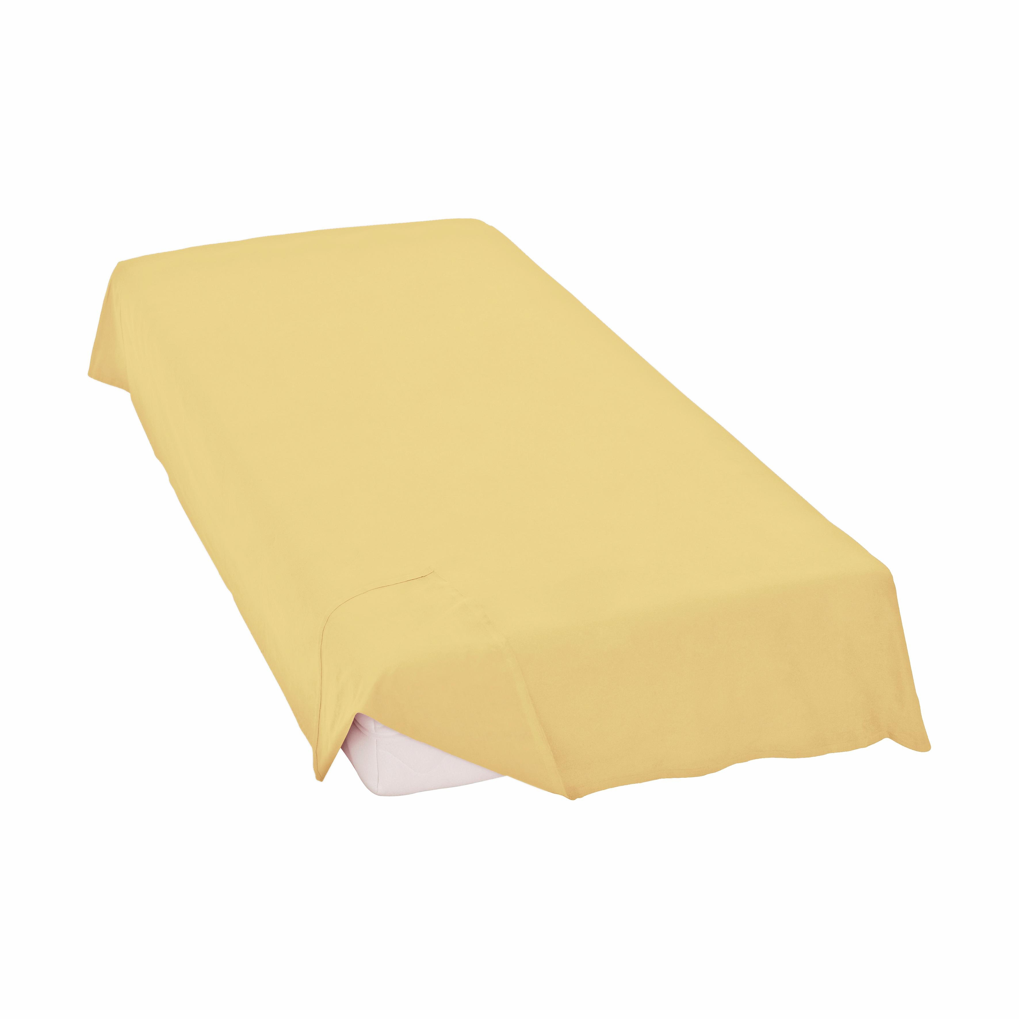 laken schlafgut linon laken zonder elastiek beige