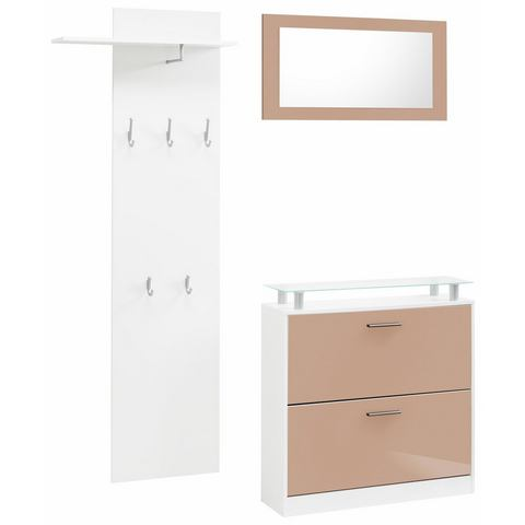 Complete garderobes Halmeubel Lathi in 3-delige set 843694