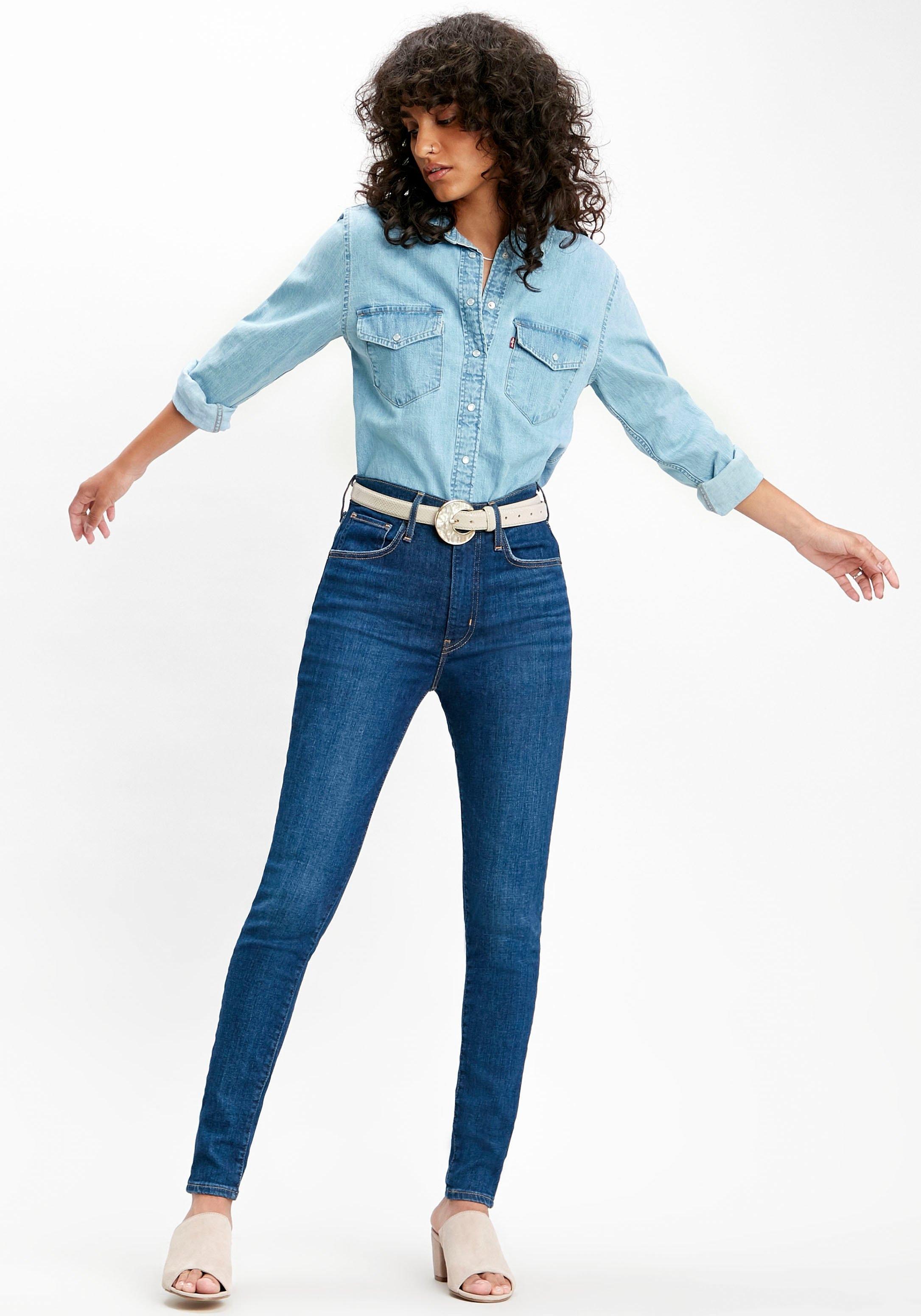 Levi's skinny fit jeans Mile High Super Skinny High Waist goedkoop op otto.nl kopen