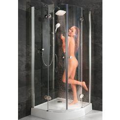 ronde douchewand »relax special«, viertelkreisdusche, bxt: 90 x 90 cm zilver