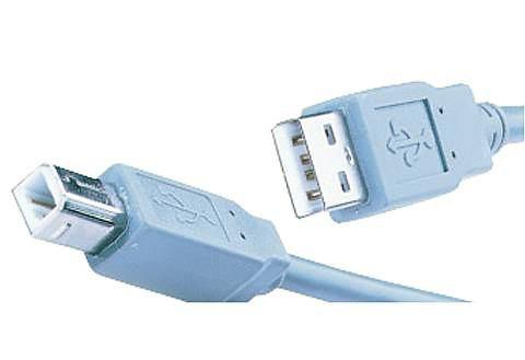 USB A-B Aansluitkabel 1,8m Grijs