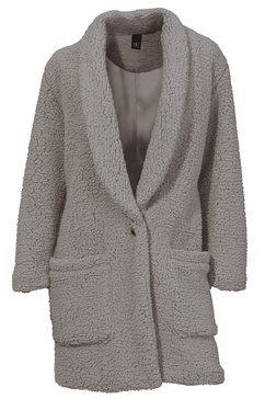 mantel van imitatiebont grijs