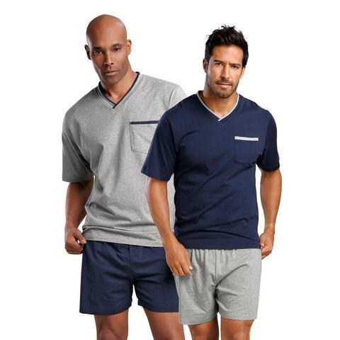 LE JOGGER Pyjama in kort model set van 2